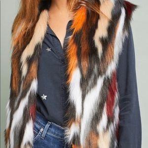 Anthropologie Rosie Neim Faux Fur Vest Size XS